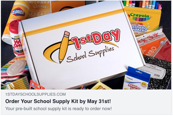 Order your school supply kit by May 31st